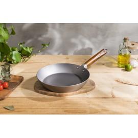 鐵鑊誘惑24厘米木柄文青熟鐵煎鑊