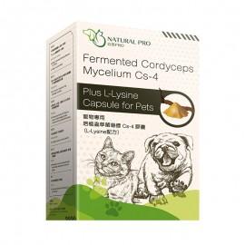 Natural Pro - 寵物專用培植蟲草菌絲體 Cs-4 膠囊(L-Lysine配方)