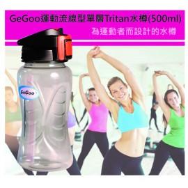 GeGoo Hydro Aero Single Wall Tritan Bottle 運動流線型單層Tritan水樽