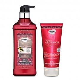 梨奧美有機摩洛哥堅果油洗髮護髮套裝: (梨奧美機摩洛哥堅果油洗髮露600ML+護髮焗油精華200ML)